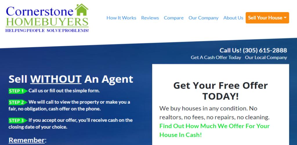 Cornerstone Homebuyers | Sell Your House Hero SS