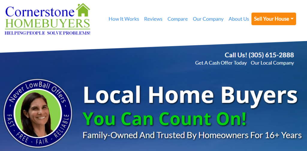 Cornerstone Homebuyers | Sell Florida Home Quickly - Our Company Hero SS