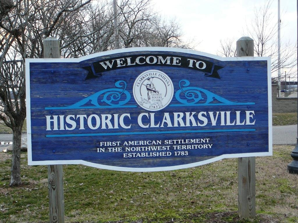 clarksville indiana historic sign