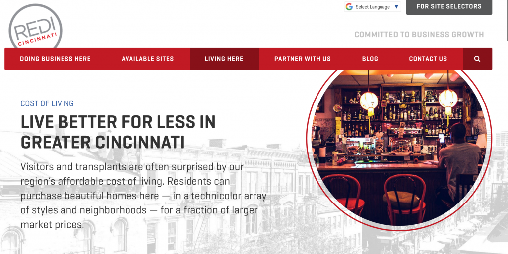 cost of living in Cincinnati - live better for less in Greater Cincinnati - redi