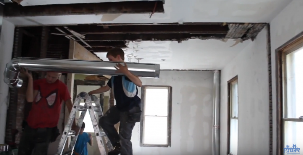 a father flipping houses with his kids - hvac