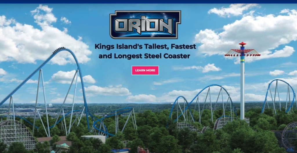 Orion Kings Island's tallest, fastest, and longest steel coaster