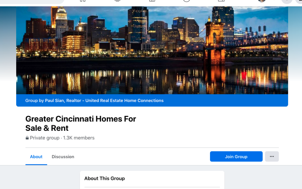 Cincinnati facebook group to sell your house