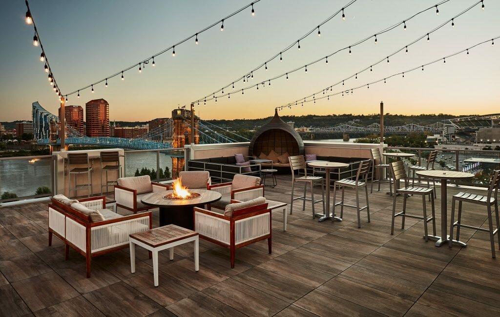 ac upper deck - great views at the banks in cincinnati