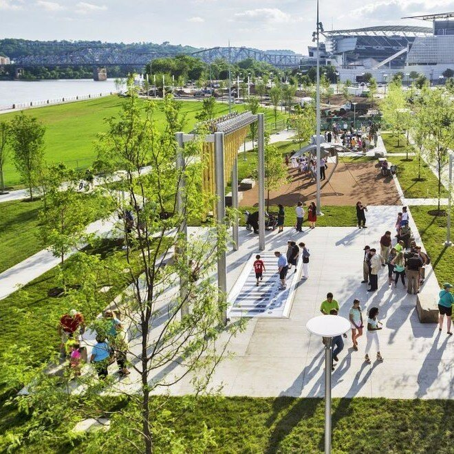smale riverfront park piano pig and playground for kids