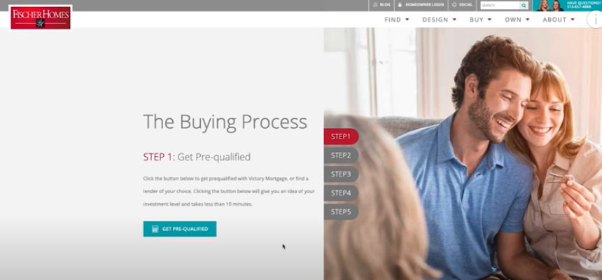 New Home Buying Process with Fischer Homes - Step 1