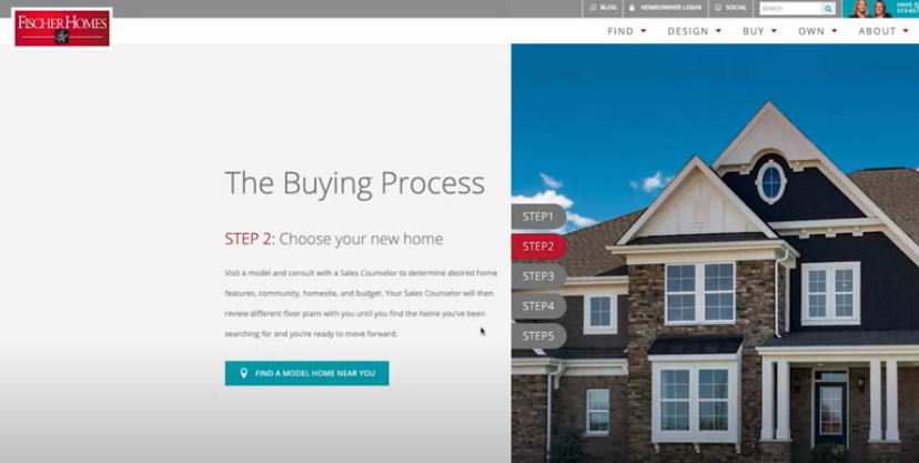 New Home Buying Process with Fischer Homes - Step 2