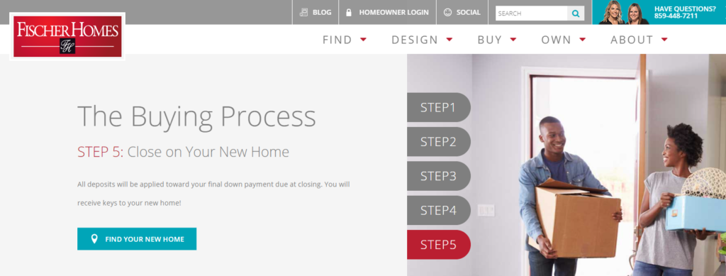 New Home Buying Process with Fischer Homes - Step 5