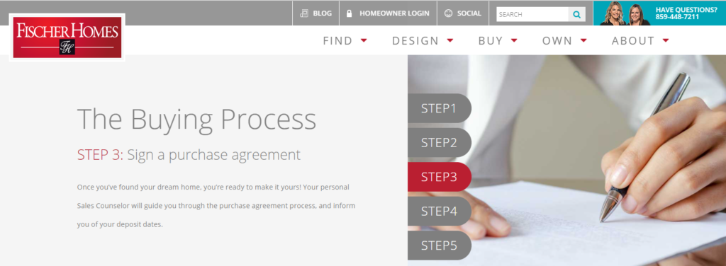 New Home Buying Process with Fischer Homes - Step 3