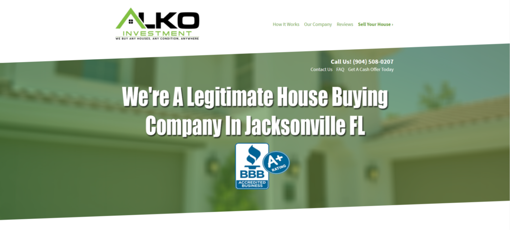 our company sell your house fast in jacksonville fl