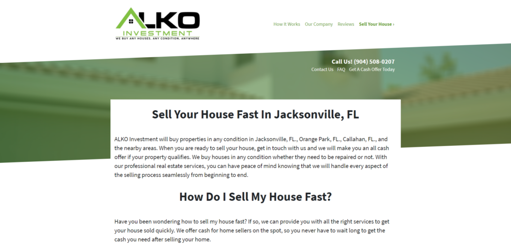 sell your house in jacksonville fl