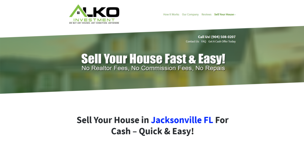 how it works sell your house fast in jacksonville fl
