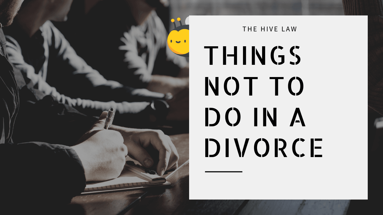 Things NOT to Do When You Divorce Atlanta Georgia