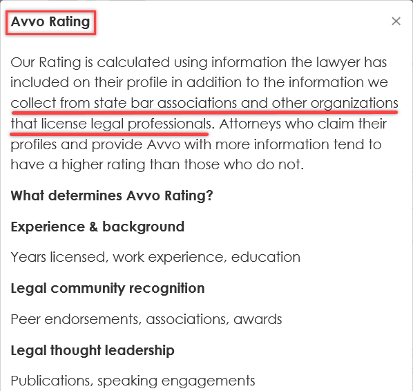 Avvo Real Estate Lawyer Ratings