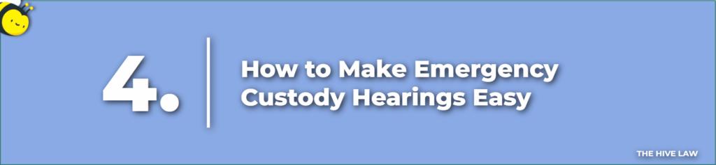 How Long Does a Custody Hearing Take - Emergency Custody Hearings - What Happens At First Custody Hearing