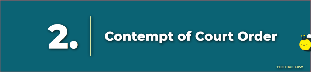 contempt of court order - punishment for contempt of court in family court - withholding a child from another parent