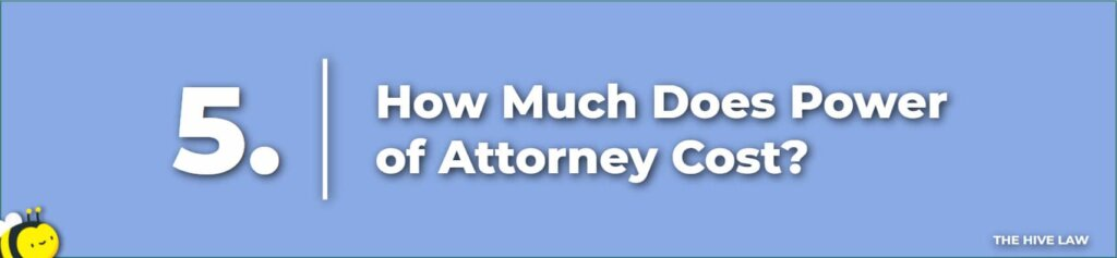 How Much Does Power of Attorney Cost - Cost For Power of Attorney - Power Of Attorney Georgia