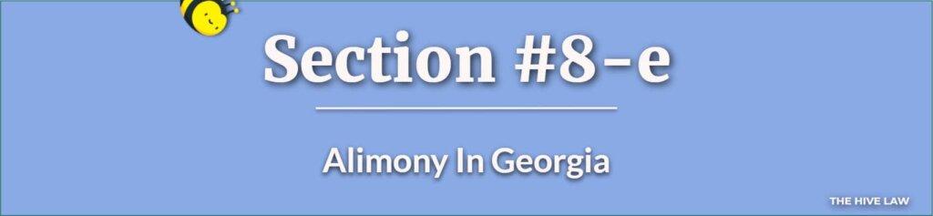 Alimony In Georgia - Spousal Support Georgia