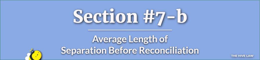 Average Length of Separation Before Reconciliation - Chances Of Reconciliation After Separation - Separate Maintenance