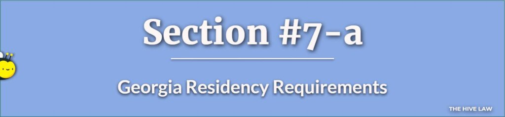 Georgia Residency Requirements