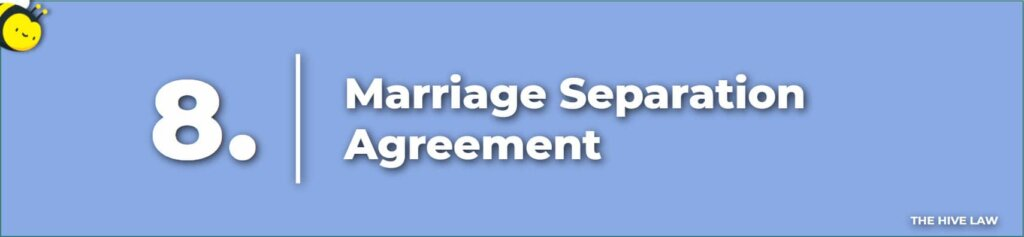 Marriage Separation Agreement - Separation Papers - Separate Maintenance Decree - Separation Agreements - Legal Separation Agreements