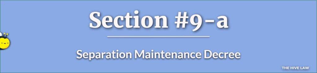 Separation Maintenance Decree - Legal Separation Papers - GA Separation Agreements - Marriage Separation
