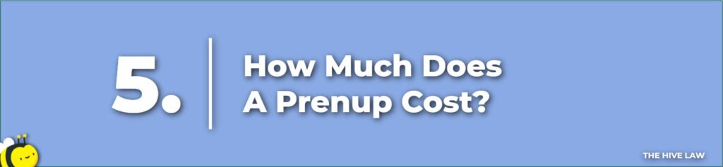 How Much Does A Prenup Cost