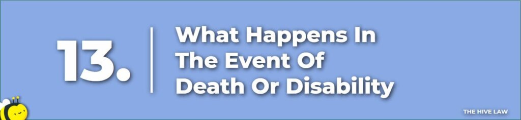 What Happens In The Event Of Death Or Disability - Prenuptial Agreement Checklist