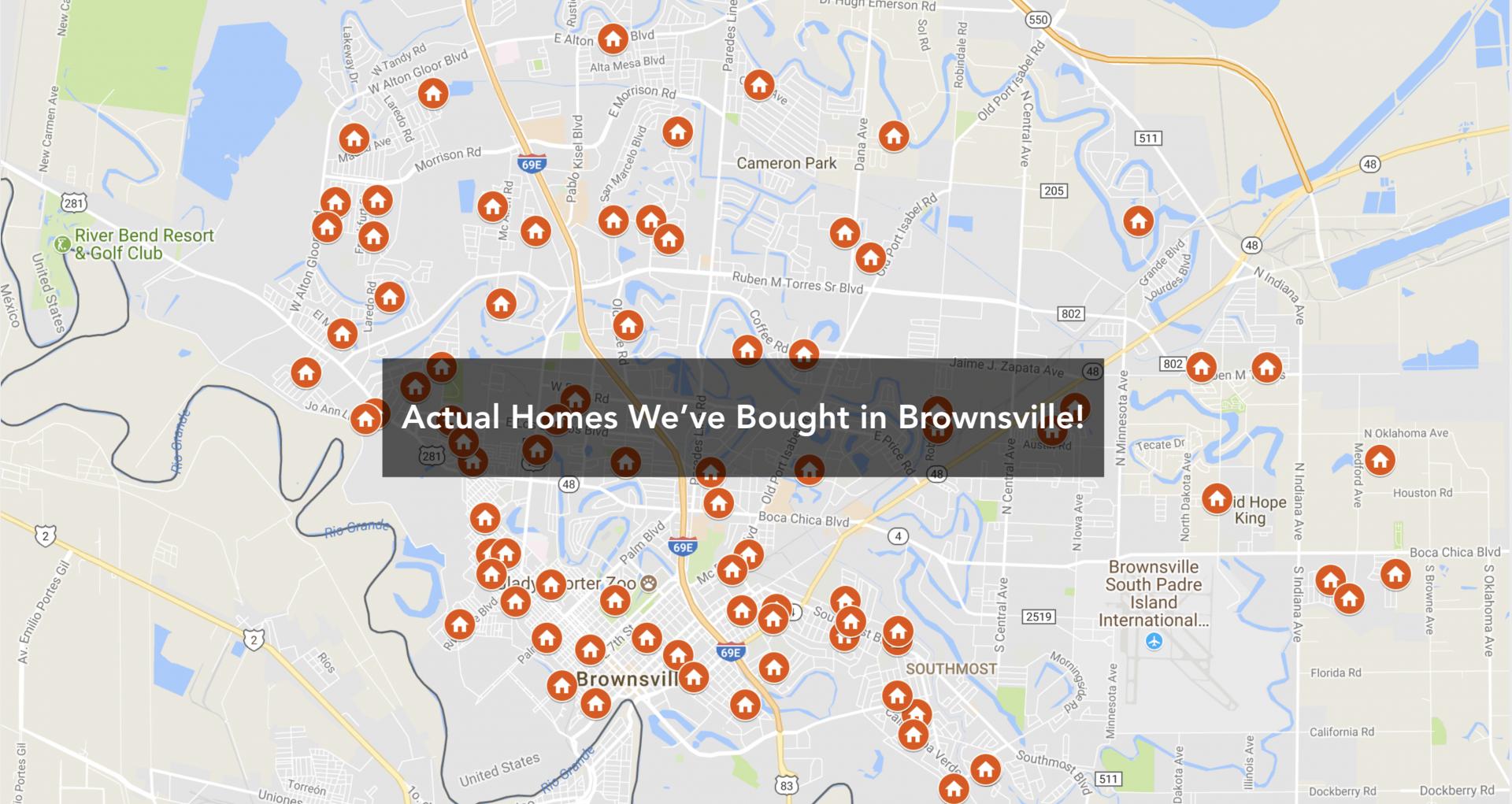 Estas son las casas que hemos comprado en Brownsville TX.