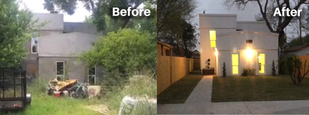 Before and after of a flipped house mcallen TX
