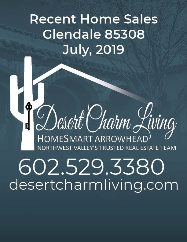 Recently Sold Homes In Glendale 85308 July 2019
