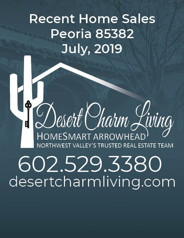 Recently Sold Homes In Peoria 85382 July 2019