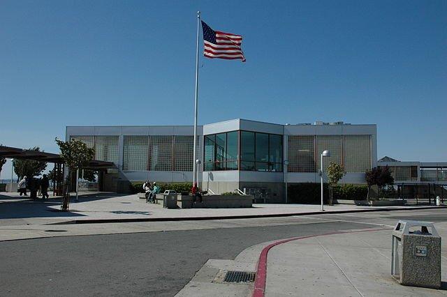 BART station in Pittsburg California