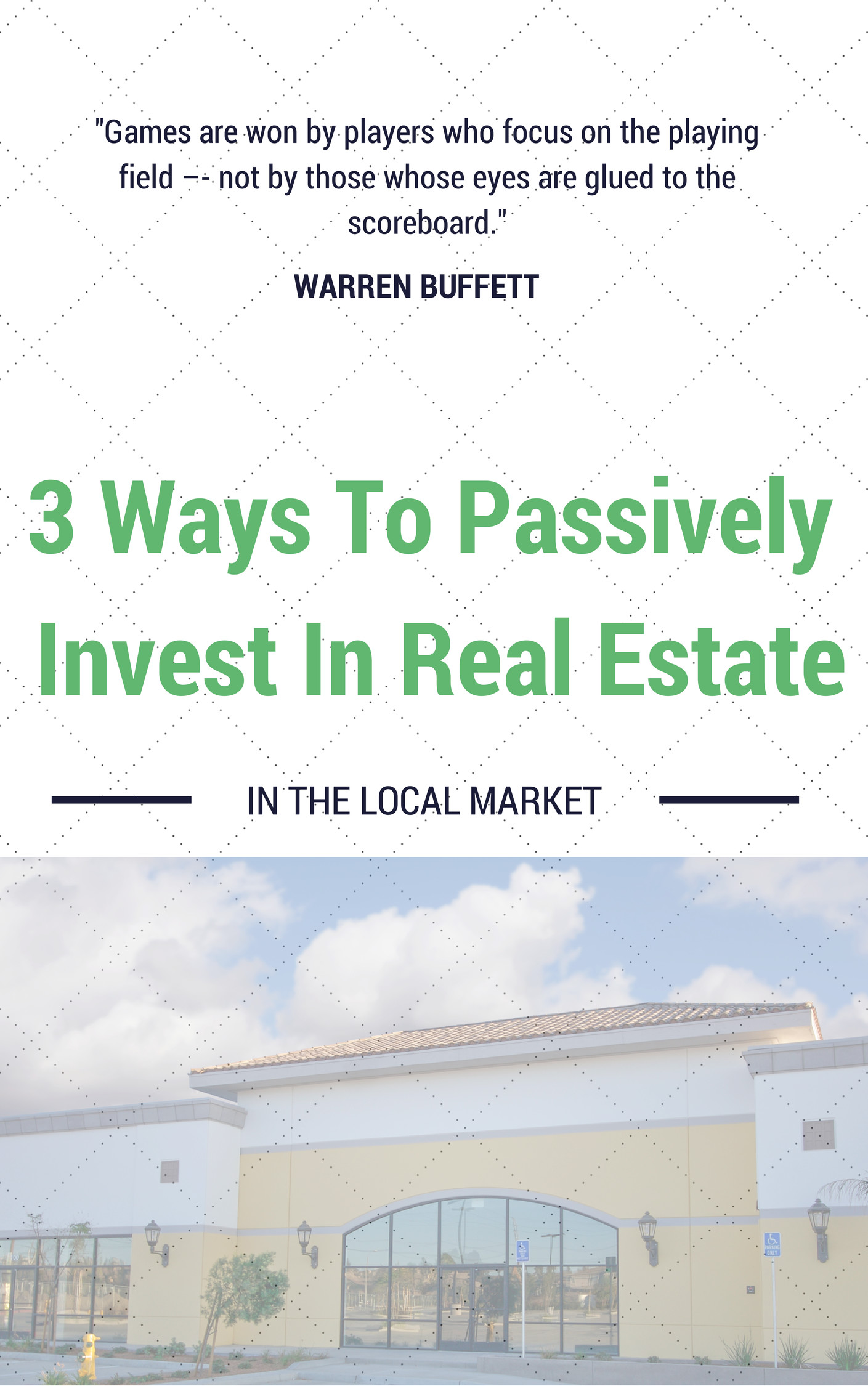 passive real estate investing locally