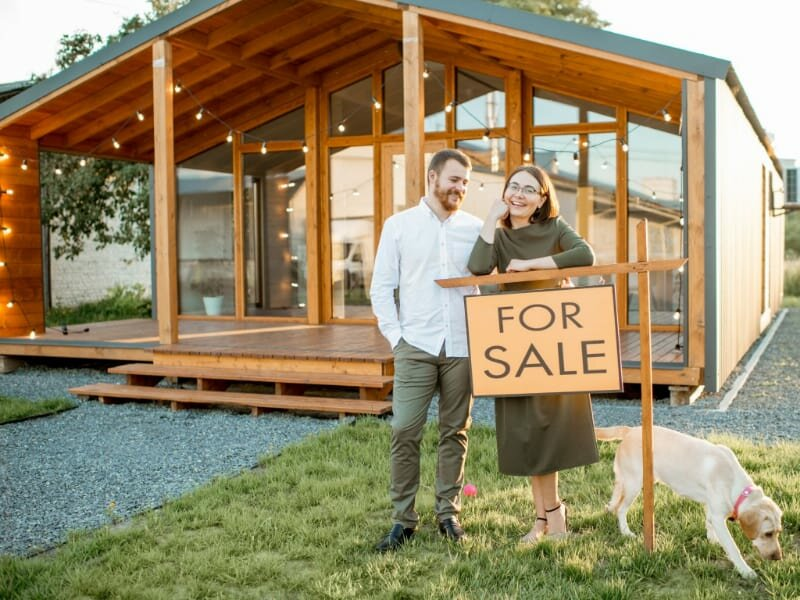 Couple selling country house