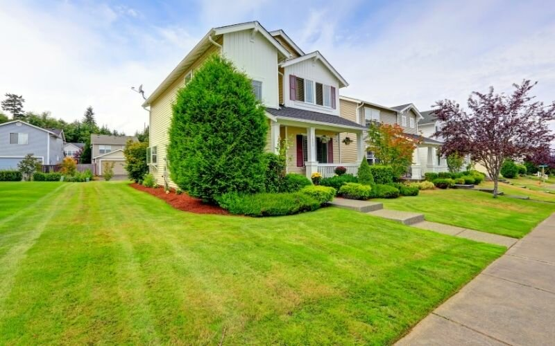 Classic american house exterior with curb appeal