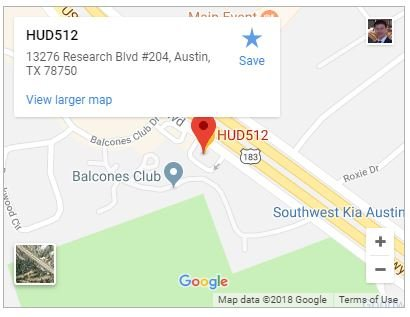 HUD512 Austin House Buyers 13276 Research Blvd Ste 204 Austin, TX 78750 512-994-4483