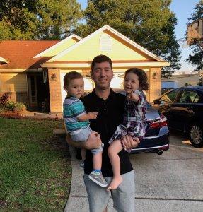 Trevor Augustus and kids