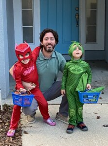 Trevor Augustus and kids - Halloween