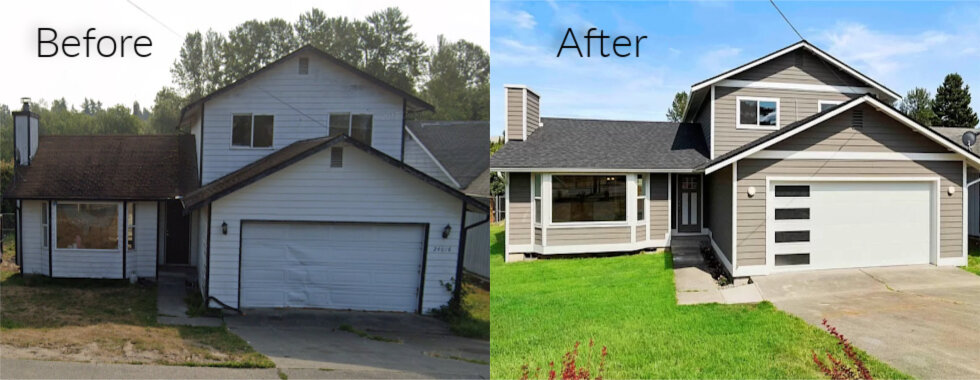 Before and After of a house we bought as is for cash