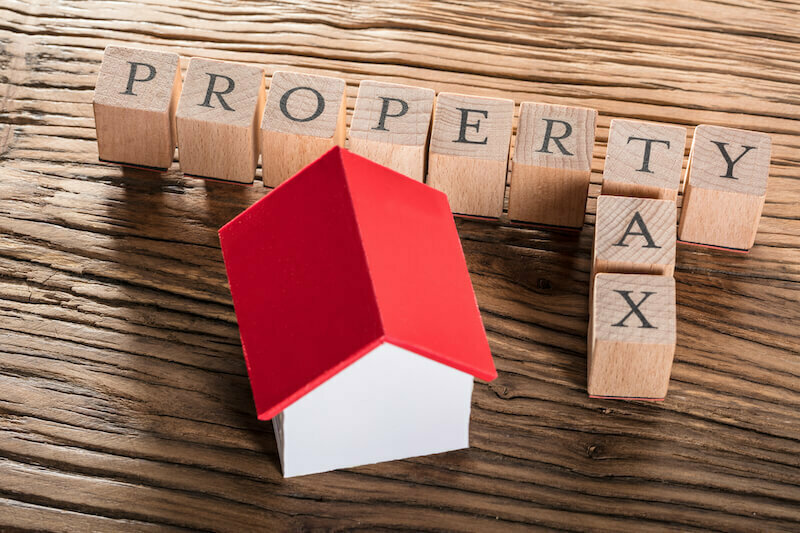 Property Tax in Washington State on a board