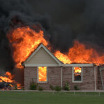 nice house on fire