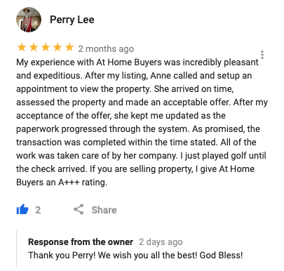 At Home Buyers Review - Perry Lee