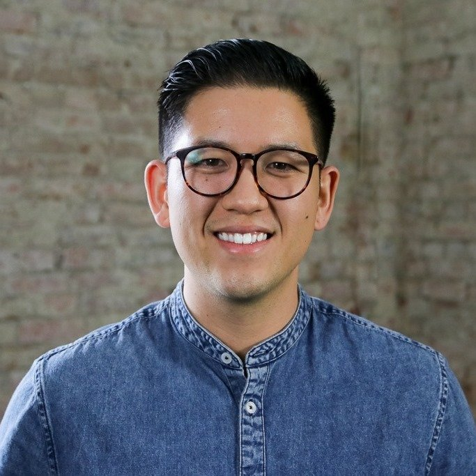 Jonathan Tran with At Home buyers