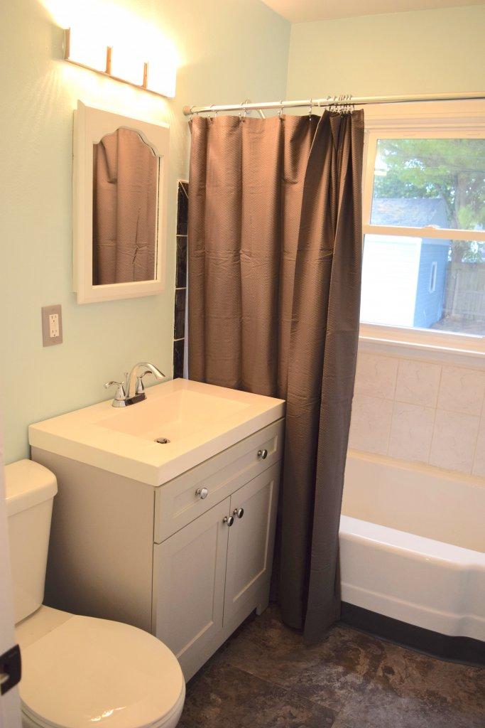 Karen's renovated bathroom