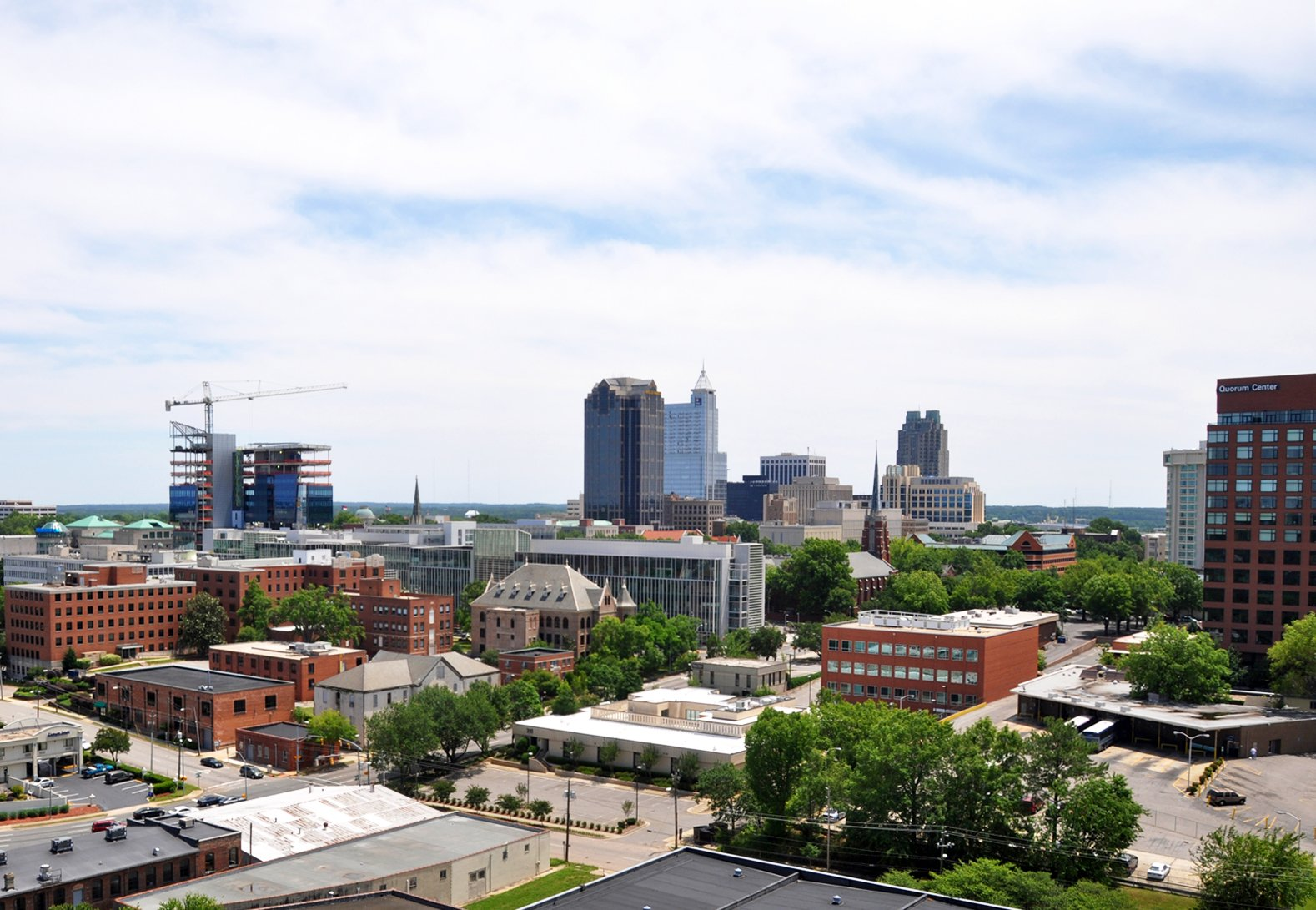 Sell your House fast in NC with Inspiring Investment Raleigh - downtown Raleigh skyline on the sell your house fast in North Carolina page