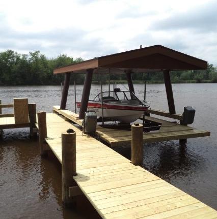 permanent dock lake winnebago