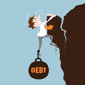 "<img src=""debt.jpg"" alt=""debt dragging man off cliff"">"