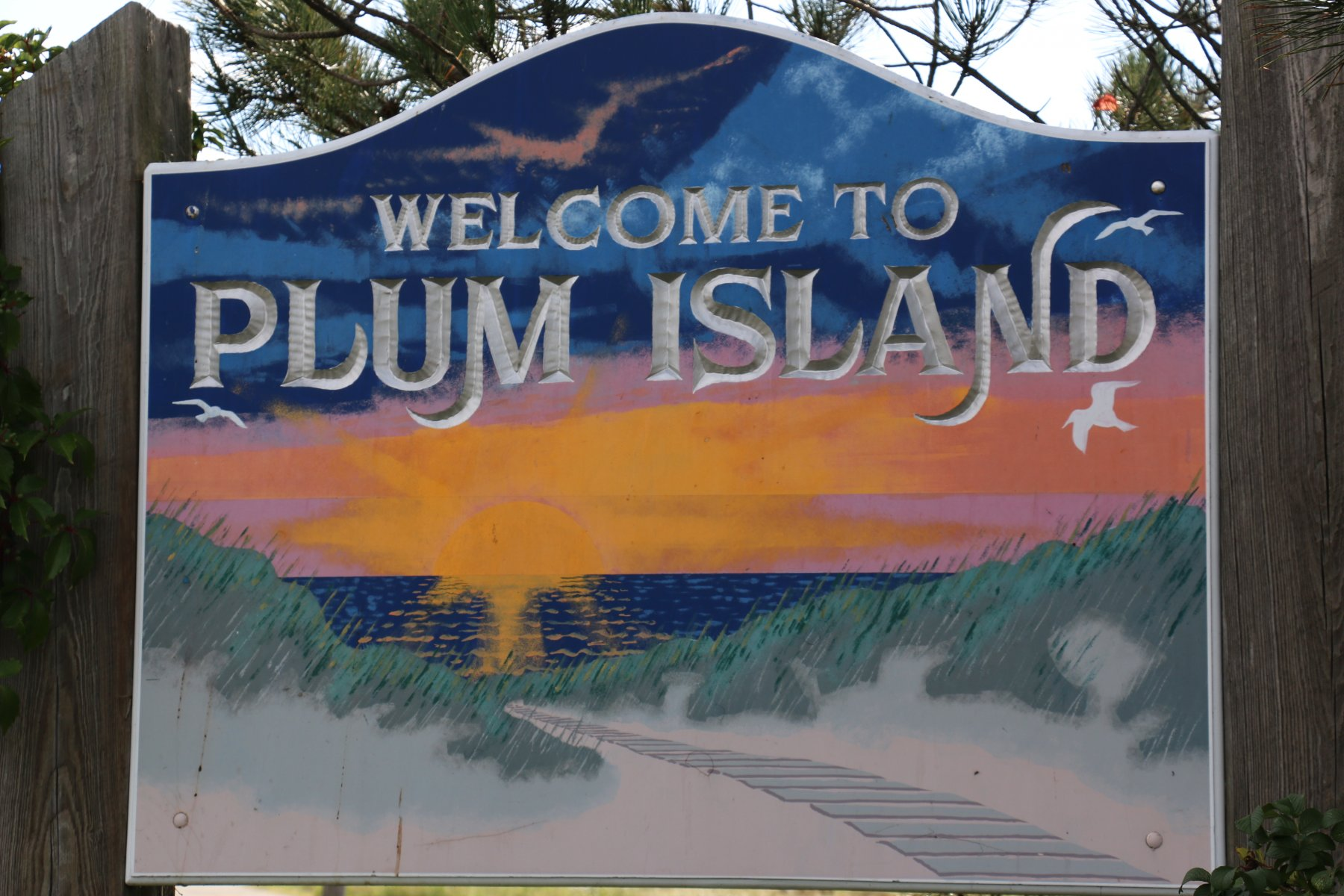 Plumb Island Welcome Sign