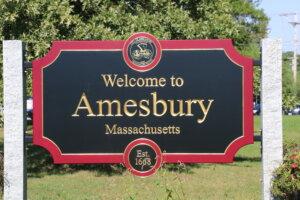 Amesbury Welcome Sign